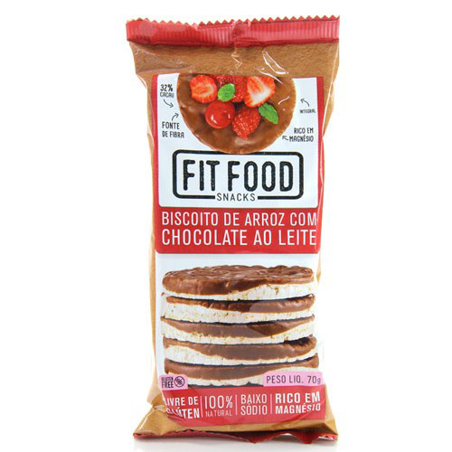 BISCOITO DE ARROZ FIT FOOD AO LEITE  100G