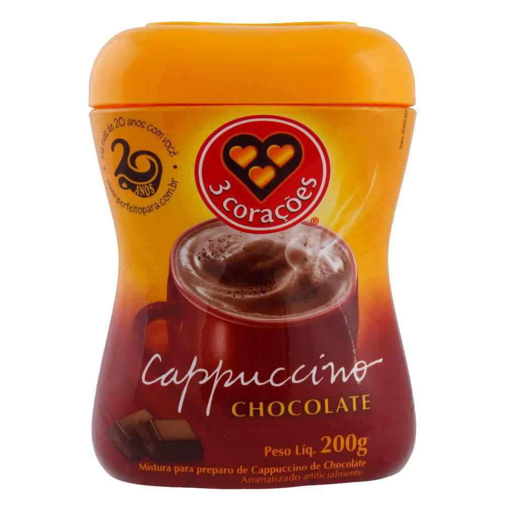 CAPPUCCINO 3 CORACOES CHOCOLATE 200G